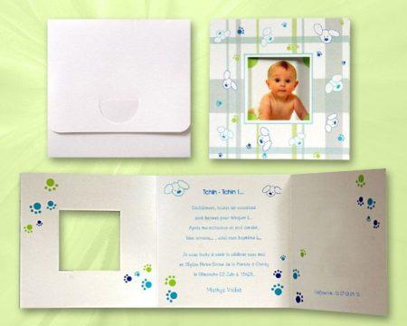 White of Berlin IB086 invitation Einladung christening Taufe πρόσκληση βάφτιση