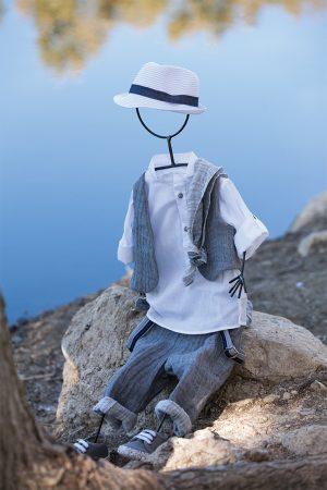 White of Berlin AW023 taufe christening clothes boy Jünge βάφτιση ρούχα